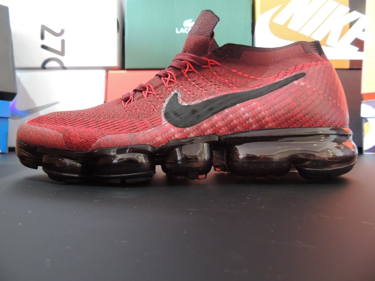 vapormax flyknit dark team red and black. Cargando zoom. e0202b8a711ac