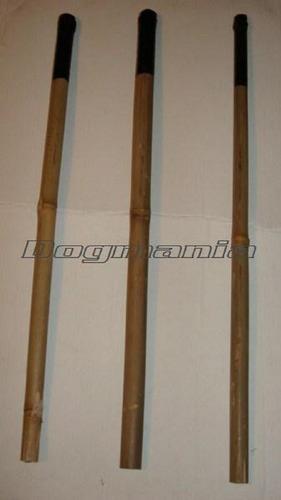 vara de bambú para entrenamiento de guardia y protección