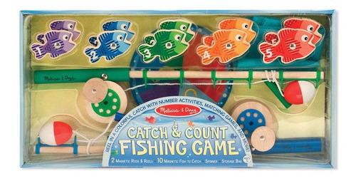 vara de pescar com peixinhos em madeira - melissa and doug