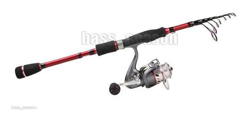 vara pesca 2,10m 100% carbono 6/12lb da rod bass importada