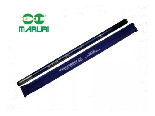vara telescópica maruri triton azul 2,40m c/ capa protetora