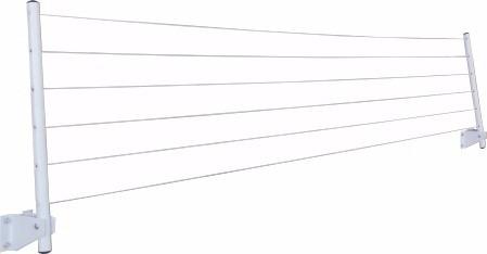 varal articulado dobrável de parede prático apartamento apt
