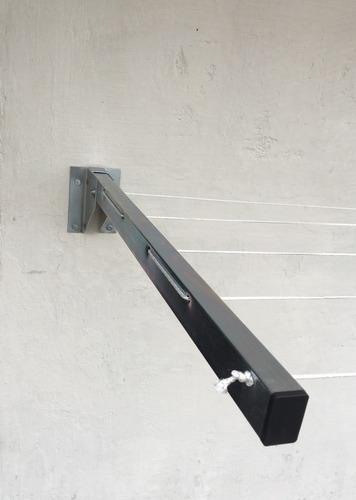 varal articulável dobrável de parede e muro kit simples