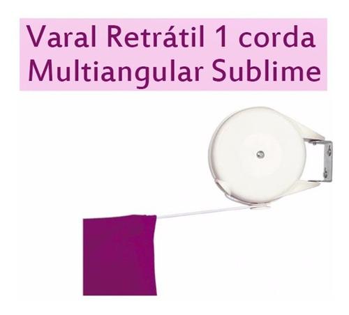 varal automatico parede seca fácil roupas branco recolhível
