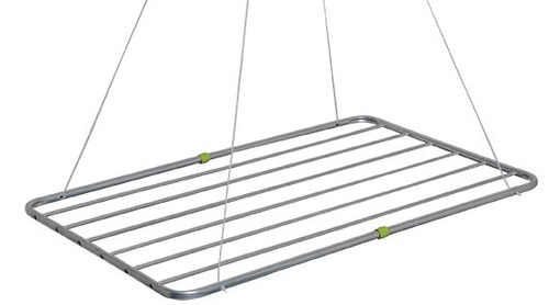 varal de teto (apartamento) aluminio 90cm c/ acessorios  mor