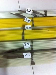 vareta de fibra c/2,05 mts, 6kg p/ gaiolas,pipas etc.