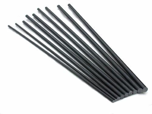 vareta maciça em fibra de carbono de 8mm c/ 1 mt. skyshark