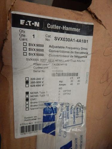 variador de frecuencia 30 hp svx030a1-4a1b1