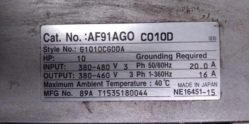 variador de velocidad 10 hp af91ago c010d