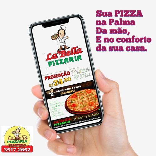 variedade de sabores de pizzas..