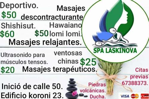 variedades de masajes relajantes y descontracturantes.