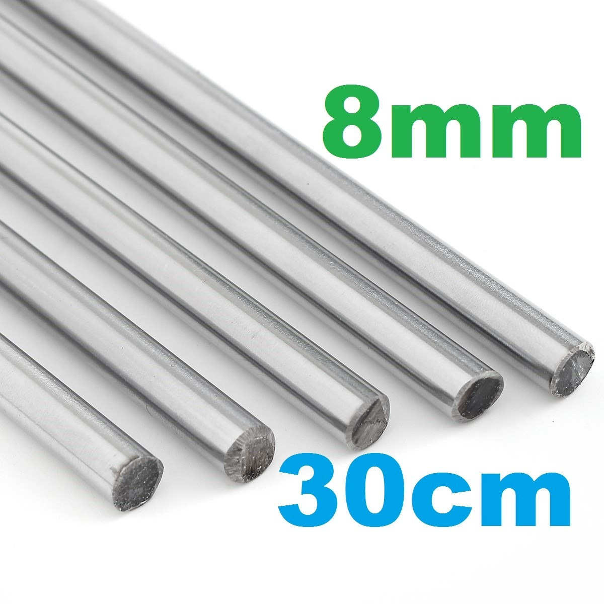 Varilla 30cm eje lineal 8mm acero inoxidable grbl cnc 3d - Varillas de acero inoxidable ...