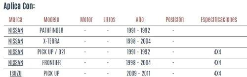 varilla central nissan x - terra 1998 - 2004 vzl