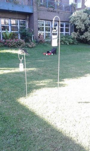 varilla de hierro artesanal porta vela 1,20cm