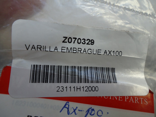varilla embrague suzuki ax100 original