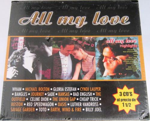 varios artistas - all my love nuevo 3 cds