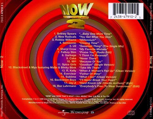 varios - now 2 cd britney u2 garbage sheryl elpusty