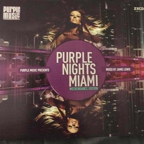 varios - purple nights miami 2 cds mix jamie lewis oferta!!!