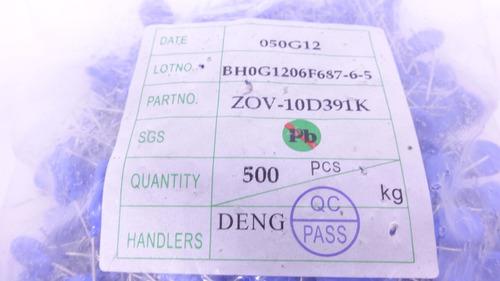 varistor 250v 10k (10d391k) 10mm embalagem c/500 peças novo