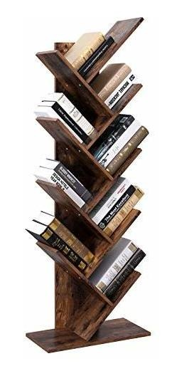 finest selection b4029 b2f53 Vasagle Tree Bookshelf, 8-tier Floor Standing Bookcase, Wit
