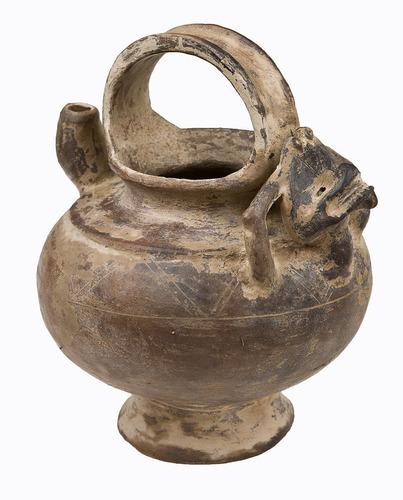 vasija cerámica precolombina cultura tairona. réplica.