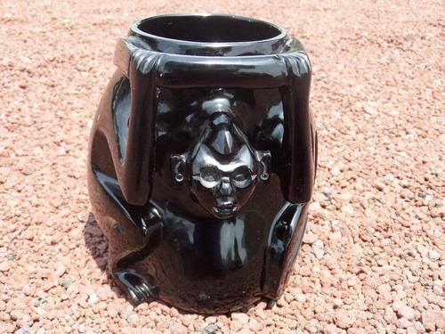 Vasija Del Mono Obsidiana Negra - $ 7,200.00 en Mercado Libre