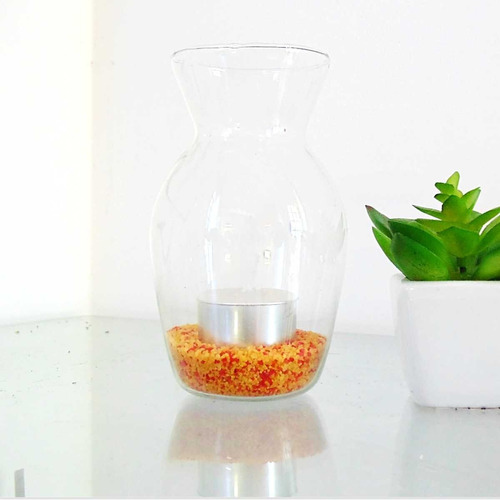 vasinho porta vela castiçal vidro mini vaso decoração festa