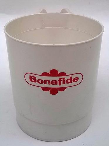 vasito de cafe bonafide antiguo de plástico.