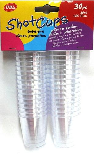 vasito mini shot para mini dulces acrilico desechable