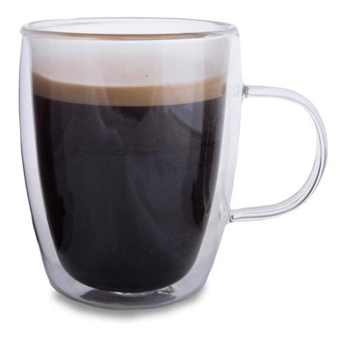 vaso 270ml cafe te doble vidrio termico