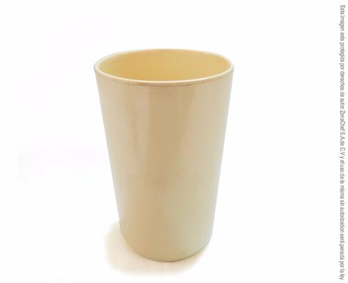 vaso 7.5 x 11.8 cm beige melamina