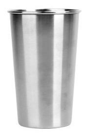 vaso acero inoxidable 250cc camping irrompible con reborde