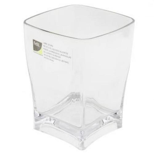 vaso acrílico mic addfa cuadrado-transparente