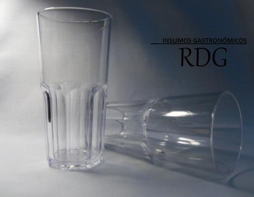 vaso acrilico , no policarbonato nadir 2611 facetado