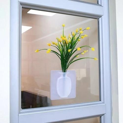 vaso adesivo de parede vidros para flores e plantas silicone