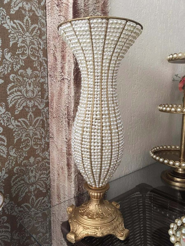 vaso anf. pedraria perola 2 60 cm, 2 45 cm pé resina