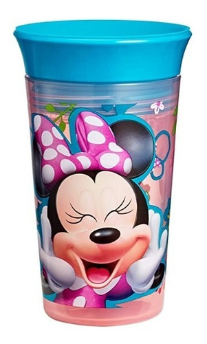 vaso antiderrame disney minnie de 9 oz antigoteo