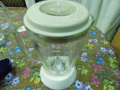 vaso armado hamilton beach de vidrio