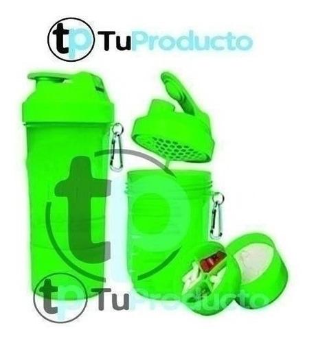 vaso batidor 2 compartimientos 3 en 1  400 ml whey protein