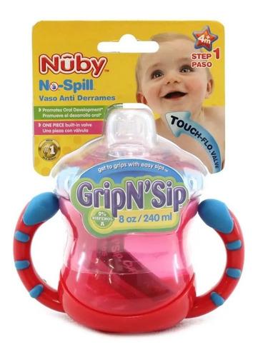 vaso bebe anti vuelco nuby pico silicona asas + 4 meses 9866