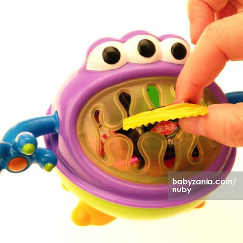 vaso bebe cerealero snack nuby monster