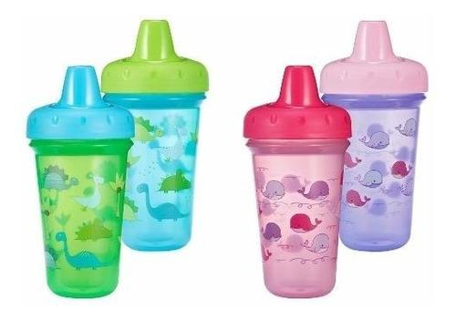 vaso boquilla rigida 9m+ transparentes tomy- bebes y niños