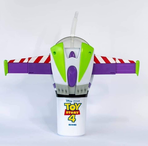 vaso buzz light year toy story 4 cinemex + plato de regalo.