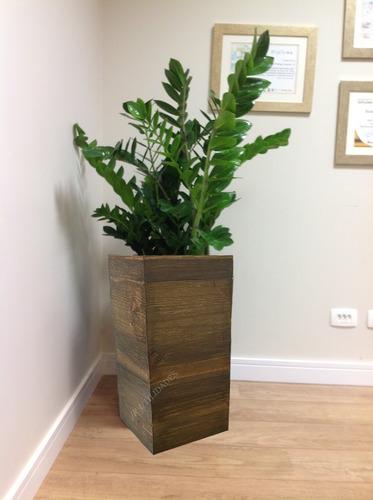 vaso cachepot de madeira pinus 50x20x20 5114 8