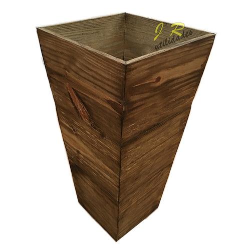 vaso cachepot de madeira pinus 50x20x20 5114