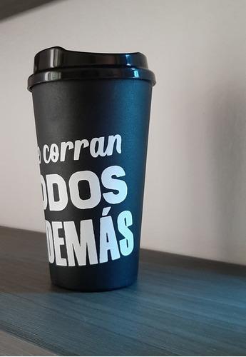 vaso café, negro, que corran