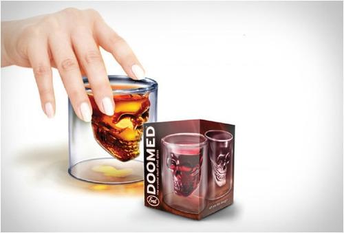 vaso calavera cristal doomed whisky vodka tequila 10cm grand