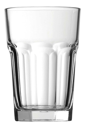 vaso casablanca 415ml pasabahce vidrio templado pack x12