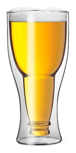 vaso cervecero botella doble pared 370 ml glasso