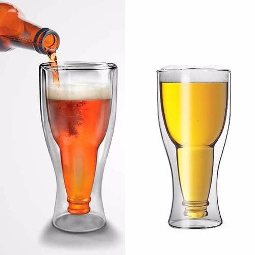 vaso cerveza invertida en cristal